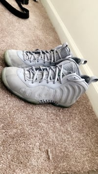 pair of gray Nike Air Foamposite Pro shoes Clinton, 20735