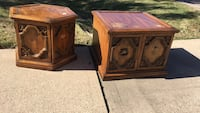 two brown wooden side tables 1219 mi