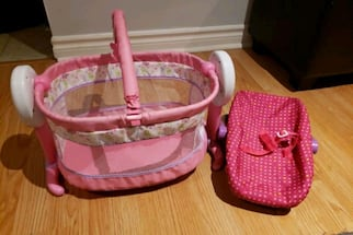 Doll cradle and holder