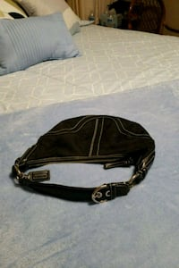 black and gray leather crossbody bag Olympia, 98513