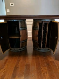Wine barrel table w/ 4 wood stools  Baltimore, 21202