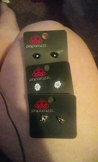 three pairs of Paparazzi earrings Connelly Springs, 28612