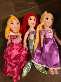 Set of 3 Disney Princesses plush Bakersfield, 93308
