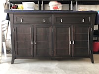 brown wooden cabinet with drawer Oakville, L6M 0W3