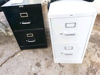 two white and black filing cabinets Phoenix, 85051