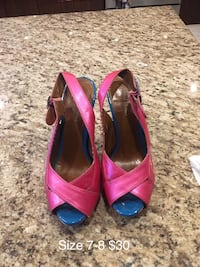 Pink and blue heels size 7-8 Toronto, M3H 4M9