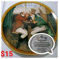 """Collectable Norman Rockwell 9 """" Plate Corpus Christi, 78415"""