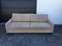 "*Price reduced** Real Suede Beige Couch W84.5"" x H29.5 x D38"" Seattle, 98199"