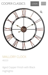 Large wall clock ($140 new) Arlington, 22201