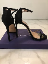 Stuart Weitzman black strappy heeled shoes Vaughan, L4L 6Z6