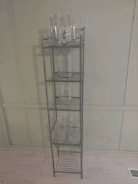 Shelving with glass vase Beaumont, 77713