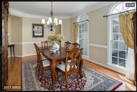 Formal Dining from suit, includes 6 side chairs, two arm chairs table with 2 inserts, China cabinet with glass shelves and lighting Leesburg, 20176
