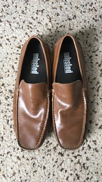 pair of brown leather loafers Mississauga, L5R 3R4