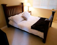 Double bed with side table and mattress  West Vancouver, V7W 1H8