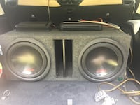 12 alpine speakers and amps Summerville, 29486