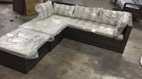 VALLEY PEAK LOW PROFILE 3-PIECE ALL-WEATHER WICKER SECTIONAL PATIO SET WITH BEIGE CUSHIONS Sugar Land