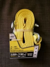 BRANDNEW TOW STRAP with HOOKS (2in x 20ft)  Surrey, V3R 7C1