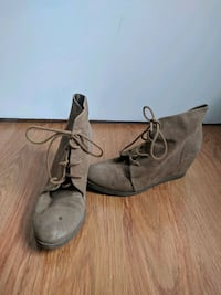 7.5 wedge booties Vancouver, V6T 1W4