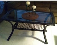 Dark brown wicker coffee table