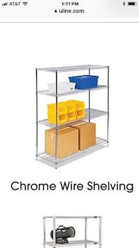 Cromo metal  rack can be use any where garage home health department approved use but in excelente condition have 20 units Los Angeles, 91325