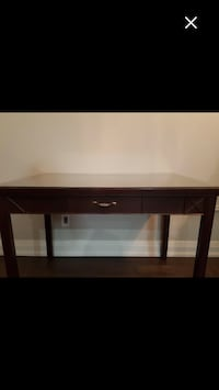 Desk - solid Cherry Wood with glass protecting top.. Toronto, M1M 2G2