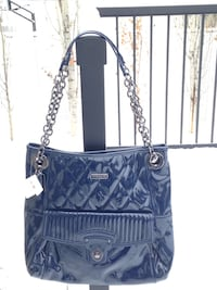 Authentic Coach NEW WITH TAGS Cobalt Blue Liquid Gloss Purse Tote.