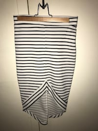 Size Small Black and White Striped Skirt Surrey, V3R