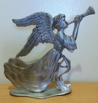 Vintage Large Pewter Statue Angel Playing Trumpet  Mississauga, L5N 2X2