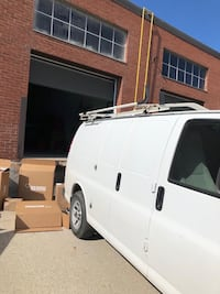 Compact cargo van roof ladder rack by Masterack..