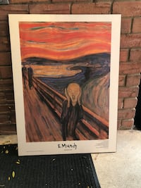 The scream mounted poster