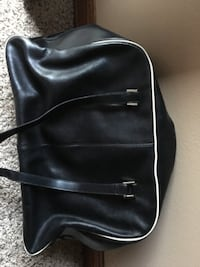Black tote with white trim Sioux Falls