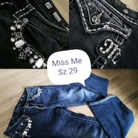 Blingy Miss Me Jeans (29) Red Deer