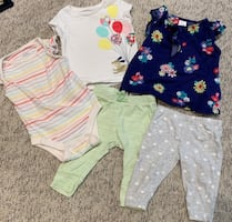 3-6 month girls clothing lot (spring/summer)