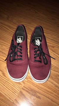 pair of maroon Vans low top sneakers Williamsport, 21795