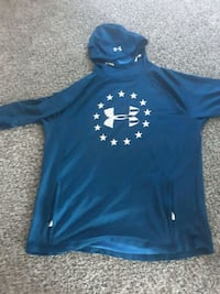 blue and white Under Armour pullover hoodie Broken Arrow, 74012