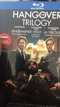Hangover blue ray DVD trilogy never opened