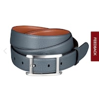 Cartier Tank Americaine Belt blue denim-colored cowhide, palladium-finsh buckle. Toronto, M3H 1S2