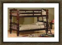 Twin wooden bunkbed frame free delivery McLean