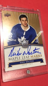 2017 maple leafs Mike Walton Autographed card New Tecumseth, L9R 0H6