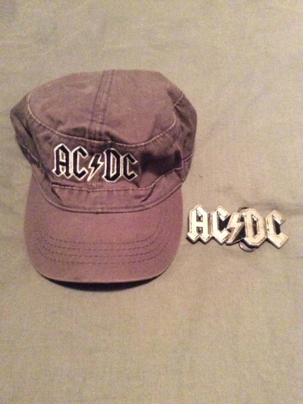 Used Grey AC DC flat cap and belt buckle for sale in Taché - letgo 9a373024daa