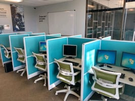 20 Cubicles and chairs