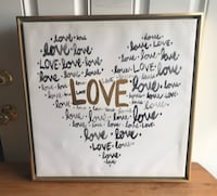 "Large ""Love"" Art w/2"" Gold Frame Hagerstown, 21742"