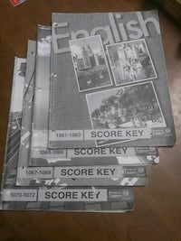 ACE School of Tomorrow English score keys for 6th grade Newville, 17241