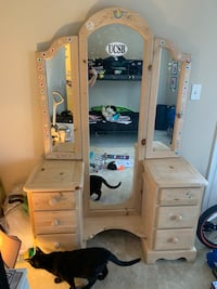 brown wooden cabinet with mirror Odenton, 21113