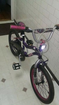 purple and black bicycle with training wheels Queens, 11421