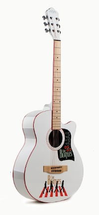 White acoustic guitar brand new for beginners Toronto