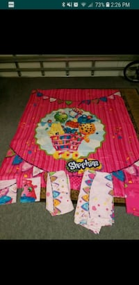 Full size shopkins bed set with curtains  Port St. Lucie, 34953