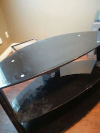 black glass metalTV stand Abbotsford, V2T 6M8