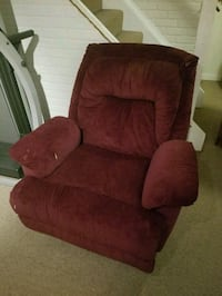 red suede recliner sofa chair 383 mi