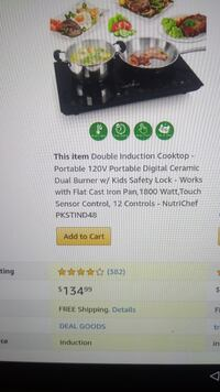 Double induction cooktop sensor touch control
